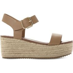 STEVE MADDEN Surfa espadrilles platform sandals (660 ARS) ❤ liked on Polyvore featuring shoes, sandals, high heel shoes, flatform sandals, espadrille sandals, steve-madden shoes and woven leather sandals
