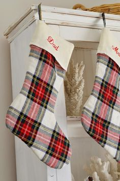 my 2015 christmas wrap up plaid christmas stockings - Plaid Christmas Stockings