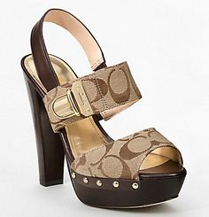 Why didn't I know coach made such cute shoes! Cute Shoes, Me Too Shoes, Fab Shoes, Cheap Designer Handbags, Latest Shoes, Designer Heels, Brown Shoe, Crazy Shoes, Shoe Collection