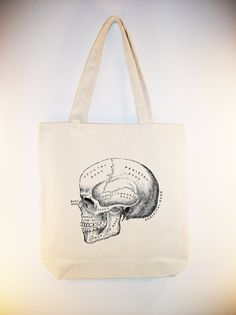 I just listed Vintage Skull Image on 15x15 Canvas Tote with Shoulder Strap - larger zip top tote style available on The CraftStar @TheCraftStar #uniquegifts