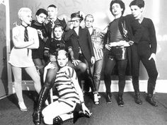 'The Bromley Contingent' – Debbie Juvenile, Siouxsie Sioux, Steve Severin, Linda Ashby, Soo Catwoman, Sharon Hayman, Simon Barker, Philip Salon and Berlin at Linda Ashby's flat, Oct 1976 – Ray Stevenson