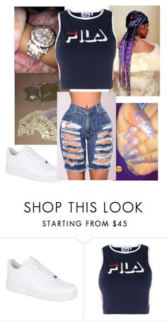 """""""Smoking forgotten"""" by beauty243 ❤ liked on Polyvore featuring NIKE and Fila"""