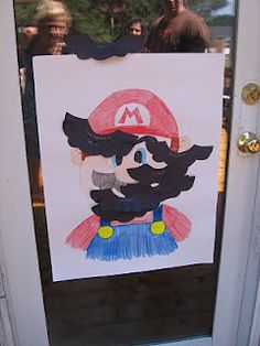 Pin the Mustache on Mario!!