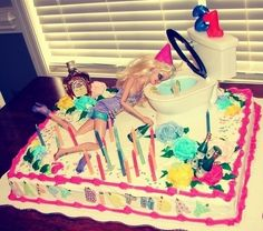 Drunk Barbie cake 21. I'm soo going to have one of these for my 21st! Haha