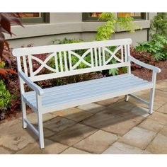 another white bench