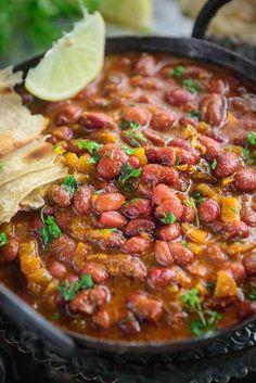 Veg Recipes, Curry Recipes, Indian Food Recipes, Vegetarian Recipes, Cooking Recipes, Vegetarian Dish, Vegan Dishes, Vegan Food, Red Kidney Beans Recipe