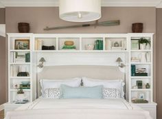 DIY Headboard Storage Collections For Your Perfect Bedroom - Diy Home Decor Bedroom Diy, Bedroom Headboard, Storage Hacks Bedroom, Bedroom Storage, Bedroom Design, Small Bedroom, Remodel Bedroom, Home Decor, Living Room Designs