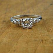 Vintage 1940s Classic European Cut Diamond Engagement Ring RGDI702D