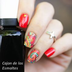 Floral mandala nail art
