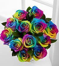 FTD Flowers Rainbow Rose 12/No Vase: Patio, Lawn & Garden $59.99