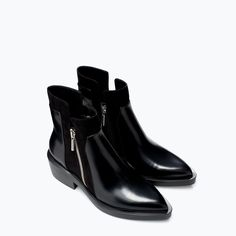 Image 2 of FLAT ANKLE BOOT WITH ZIP from Zara