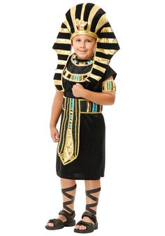 Get this Child King Tut Costume and let your son become Egypt's Boy King! It's great for Halloween or a historic theme party. Cleopatra Costume, Egyptian Costume, Pharoah Costume, Best Diy Halloween Costumes, Halloween Spider, Halloween Candy, Pineapple Costume, King Costume, Boy Costumes
