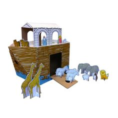 Noah's Ark Cardboard Playhouse, #madeinUSA #pinparty