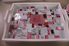 Show me How - Mosaic tray (glass & paper tiles)