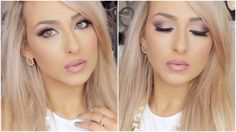 Valentines day date makeup tutorial - Soft pink and purple