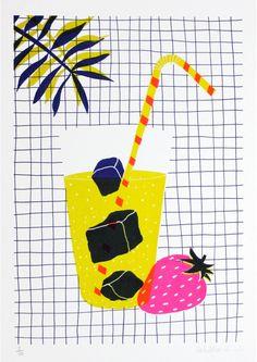 Cocktail - HelloMarine - Sergeant Paper editions- Risographie sur papier Mungken Lynx Rough