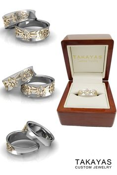 Zelda Dual Shields Wedding Band Takayas Custom Jewelry