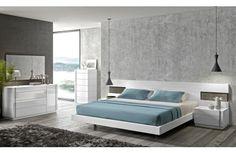 J&M Furniture Amora Premium Bedroom Set in Natural White 17869