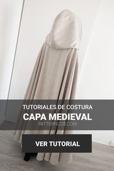 How to do a medieval cloak tutorial Clothing Patterns, Sewing Patterns, Cloak, Dog Supplies, Short Outfits, Knitting Yarn, Diy Clothes, Needlework, Ideias Fashion