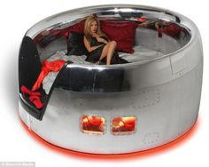 Time for bed: The DC-10 Cowling Bed was formerly a 380 passenger McDonnell Douglas DC-10 plane and is now a modern 84