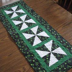 St Patricks Tablerunner by lmkquilts on Etsy, $35.00
