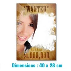L'idée cadeau déco par définition se retrouve forcément sur Pinklemon.fr, vous présentant le miroir original Wanted. En effet, une fois installé dans votre cuisine ou votre salle de bain, il ne vous suffira plus que de vous contempler pour avoir l'air d'un cow-boy recherché pour 1,000,000 de dollars ! Pour retrouver en intégralité toutes nos idées cadeaux originales, rendez-vous sur http://www.pinklemon.fr !