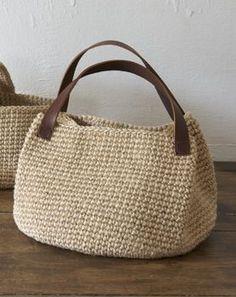 革の持ち手バッグ