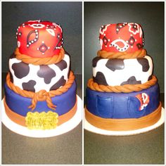 Country baby shower cake