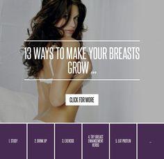 13 ways to naturally make boobs grow!