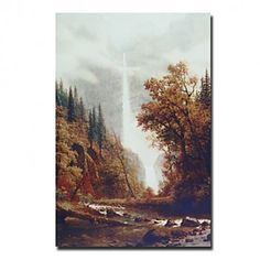 Hand-painted Landscape Oil Painting with Stretched Frame - OutletsArt.com