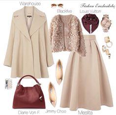 Modesty Fashion, Muslim Fashion, Hijab Fashion, Girl Fashion, Fashion Dresses, Womens Fashion, Fashion Design, Casual Hijab Outfit, Elegant Outfit