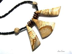 Picture Stone Jasper Statement Necklace by LunaEssence on Etsy
