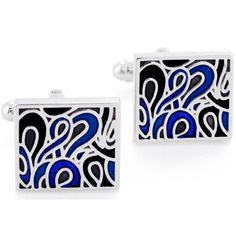 Blue Picassos Dream Cufflinks Enamel Cuff Links Fantasyard. $18.99. Gift box available for an additional fee. Please check out through gift-wrap option. Other color available. Exquisitely detailed designer style. Save 37% Off!