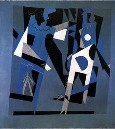 Pablo Picasso Arlequin et Femme au Collier  1917. Oil on canvas. 200 x 200 cm. Musée National d'Art Moderne, Centre Georges Pompidou, Paris. AM.3760P.