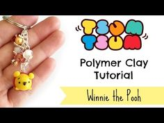Disney Pooh Tsum Tsum polymer clay charm tutorial
