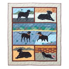 Patch Magic 50-Inch by 60-Inch Black Lab Throw ** Visit the image link more details. (This is an affiliate link) #NaturalHomeDecor
