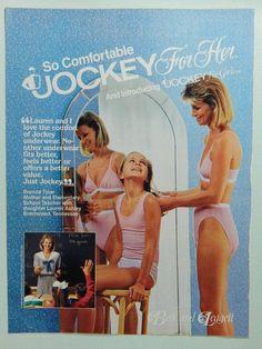 Details about 1986 Jockey for Her Underwear - Vintage Magazine Ad ...
