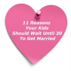 reasons should married early
