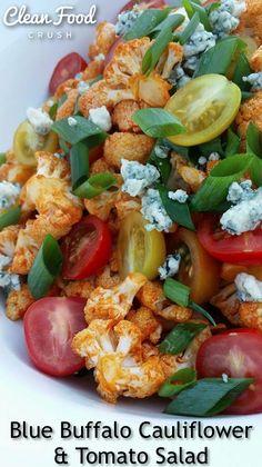 Buffalo cauliflower, Tomato salad and Buffalo on Pinterest