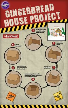 Use our fun blueprints to build a Gingerbread House with your kids! 6 easy steps!