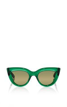 Green Quixote Cat Eye Sunglasses by Ellery