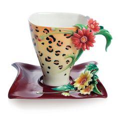 Franz Porcelain safari cup & saucer 165.00
