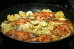 Food, Wine, and Home: Lemon Chicken with Artichokes & Capers: gourmet in 30 minutes
