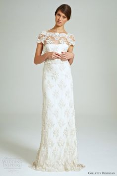 collette dinnigan #weddingdress 2014.  Beaded lace gown.