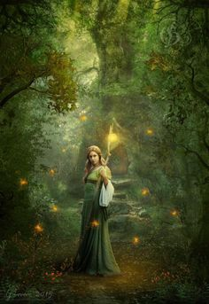 The forest wizard by FeriAnimations on DeviantArt Fantasy Images, Fantasy Art, Canvas Light Art, Fairy Land, Fairy Tales, Gravure Illustration, Spirit World, Magical Forest, Believe In Magic