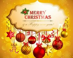 We wish you a Merry Christmas & Happy New Year.