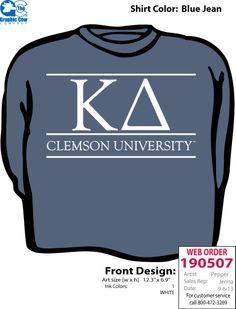 Clemson Kappa Delta's Fall 2013 Sweatshirts