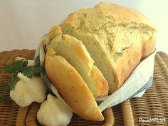 Pan de ajo (en panificadora) Food N, Good Food, Food And Drink, My Recipes, Cooking Recipes, Our Daily Bread, Pan Bread, Empanadas, Sin Gluten