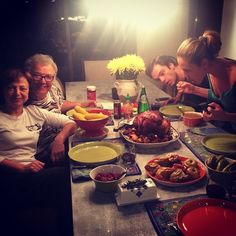 """ @margosha777: Thanksgiving photo op… I wonder which side of the table loves drama… """