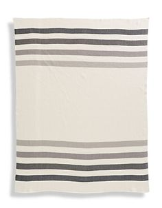 """<ul><li>This Hudson's Bay Company Collection blanket offers signature millennium stripes</li><li>48""""W X 64""""L</li><li>Cotton</li><li>Machine wash</li><li>Imported</li></ul>"""